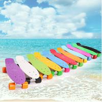 2014 Pastel Color Penny Style Skateboard 22Inch Complete skating mini longboard Gift Retro Cruiser fish long board skate
