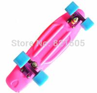 "Free Shipping Blank Custom 22"" Penny skate board Mini Cruiser Nickel long board skating Purple Yellow Green"