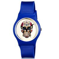 Willis for Mini Women's Fashionable Skull Pattern Analog Wrist Watch