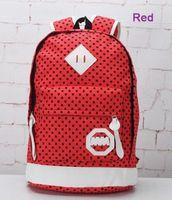 Unisex Fashion Cool Preppy Canvas Travel Backpac Shoolbag Backpack Shoulder Bag