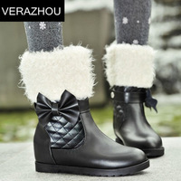 2014 Autumn Winter Snow boots New Terry Warm Casual shoes Autumn Suede boots Platform Brand Fashion Designer Thick Genuine