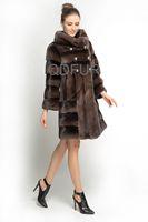 New Style Winter Fashion Women's Genuine Mink Fur Coat Jacket Female Fur Outerwear Garment Double Breasted QD70810
