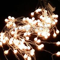 2Mx1M 104 LED+104 Cherry Shape LED Net Curtain Lights Fairy LED String bulb for Home Wedding Party Xmas holiday decoration