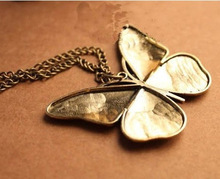 Newest Arrival High Quality Butterfly Design Women Drip Necklace 2014 Fashion Women Jewelry vintage Pendant Necklace