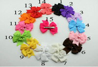 Multi colors grosgrain ribbon hair bow for girls