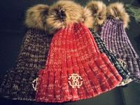 Winter Brand NEW Wool Knitted Beanie Hat For Women Men Fashion Hip Hop Skullies Cap toca Women's Hats Fur Cute Female Snow Caps