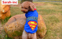Fashionable Pet Dog Clothes,Superman logo printed fleeces For Dogs,Pet Clothing Dog sweater costumes Hoody