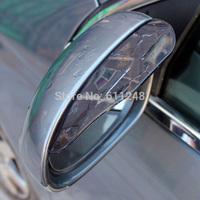 2 Color Universal New Car Rain Shield Plastic Car Rear Mirror Rain Guard Rearview mirror Rain Shade Rain Shield Flexible Peucine