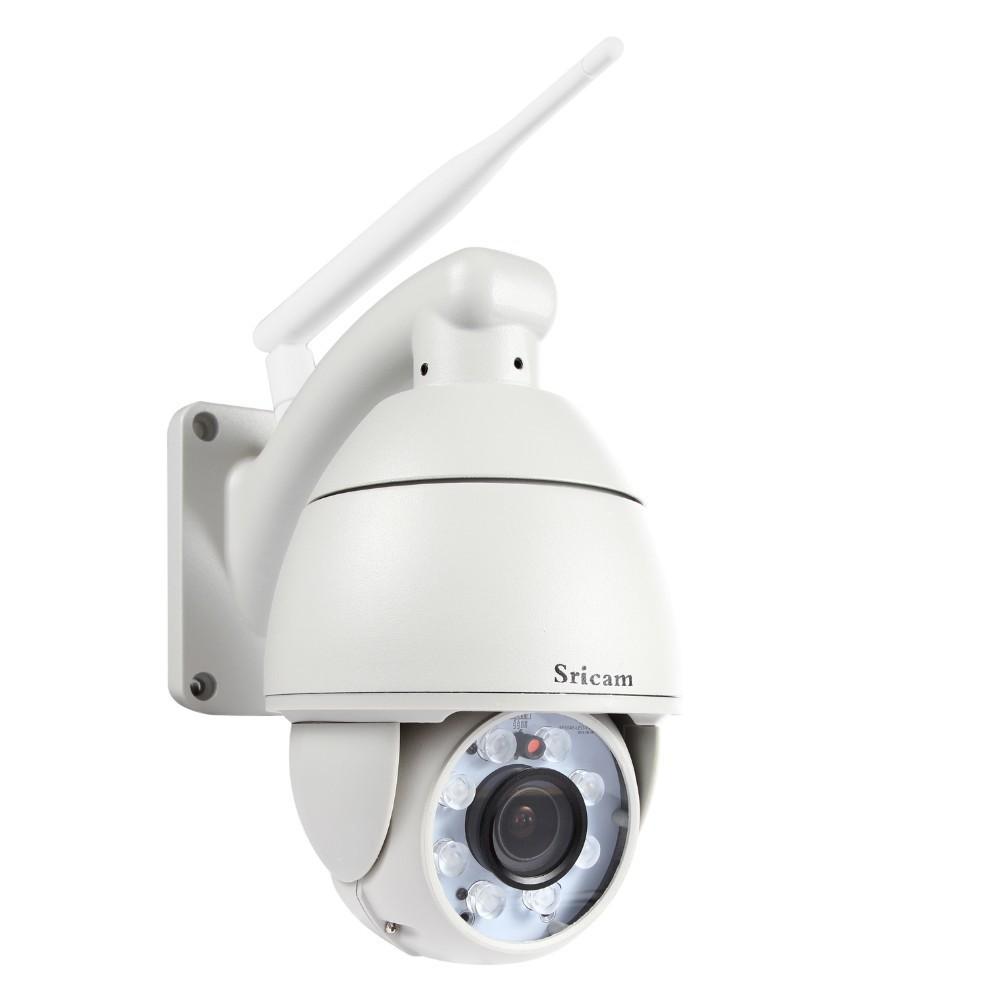 Sricam AP004 Dome PTZ Outdoor wireless IP Camera 720P 5x Optical Zoom Pan Tilt H.264 1.0Megapixel Ir Cut Night Vision auto foucs(Hong Kong)