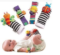 Baby Toys Insect Wrist Rattle And Foot Sock Plush Toys Sets