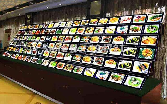 Fast Food Restaurant Led Menu Boards, Led Crystal Light Box a4 Acrylic Display 10pcs/lot(China (Mainland))