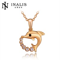 free shipping N745   Jewelry 18K  Real Gold Plated Necklace pendants Jewelry For  Women