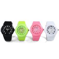 New Arabic Numerals Dial Geneva Unisex Quartz Watch Silicone Watch Men Women Jelly Silicone Watch Quartz Watch