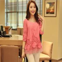 New Design Casual Woman Chiffon Peplum Blouse Feminina Camisas Femininas Blusas Roupas Blouses Shirts Tops Clothing AY852024
