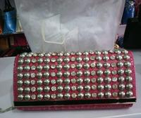 2014 new arrival casual rivet diamond PU leather women handbag ladies shoulder bag woman clutches
