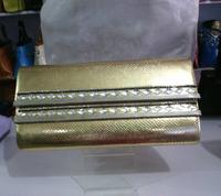 Hot Sell Fashion designer rhinestone PU leather solid clutch wallets for women ladies clutch bag female purse
