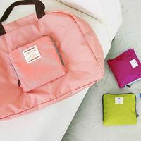 Lady Foldable Portable Trave Shopping Bag Handbag Storage Organizer Shoulder Bag