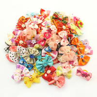 dreambows Most Cute Gift 50 Pcs! Handmade Doggie Accessories Little Bows For Dog Salon 11021 Tiny Dog Bow
