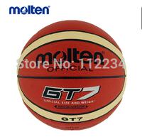 Original Molten Basketball BGT-7 High Quality PU Material FIBA Office Size 7 ball,free shipping