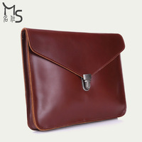 2015 Sale Freeshipping Day Clutches Vintage None Solid Hot Leather Handbags Men And Handbag Tablet Pc Bags 100% Genuine Bag for