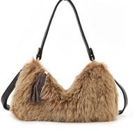 women casual wool plush bag fringed shoulder bag winter Messenger bag plush fur tassel handbags bolsas femininas 2014