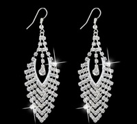 New Fashion silver and 18k gold plated Crystal Drop Earrings For Women Factory Wholesale