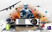 New 3500lumens,1280*800 Home theater Multimedia proyector video beamer LED Projector,USB,TV, Full HD,3D,1080P,WIFI