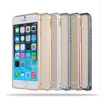 "2014 Fashion Luxury Diamonds Aluminum Phone Frame Bumper For iphone 6 plus 5.5"" Bumper Case Hard Cover"