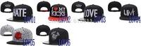Free shipping-I Want You!! LOVE Snapback Hats,Rose adjusable caps,20PCS/LOT