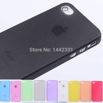 0.3 мм ультратонкий матовый точная тонкий мягкий пластик чехол кожного покрова для iPhone 4S 4