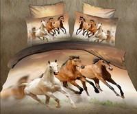 033 brown green yellow white  animal Leopard Horse Tiger  Cotton queen size Duvet / Quilt Cover Bedding sets sheet pillowcase