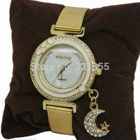 Fashion Pendants Quartz Watches Women Rhinestone Crystal Dress Watch Casual Luxury Clock Ladies Wristwatches Relogios Relojes