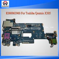 Laptop Motherboard For Toshiba Qosmio X305 LA-4471P K000063960 With Warranty 45 Days