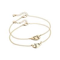 Occident Fashion 18K Gold Plated Partners In Crime Letters Bracelets 2Pcs / Set Wholesale