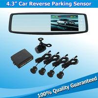 Hot Selling 4.3inch Car Detector Parking Mirror Assistance System with 1 Reversing Radar Host Box Sensor de Estacionamento