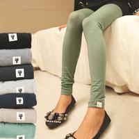 Free size 2014 New Fashion Kitten modal multicolor women leggings 12 colors Wild thin cotton tenths pants Free Shipping