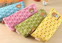 Kawaii Cartoon Glasses Girls Sweet 20CM School Kids Pen Pencil BAG Case Lady Cosmetics Purse BAG & Wallet Coin Holder Pouch BAG