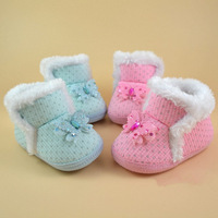 For 0-12months Baby Cotton Winter Warm Shoes Cute Butterfly Baby Girls Shoes First Walker Bebe Shoes Infantile Toddler Shoes