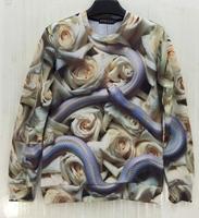 2014 Autumn New 3D Hoodies Full White Rose Terrible Snake Printed 3d sweatshirts man autumn jacket