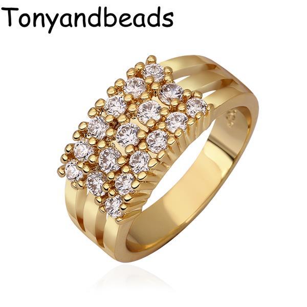 Кольцо Tonyandbeads QualityNickle R595 AntiallergicNew 18 k PlatedRing кольцо для помолвки other qualitynickle r594 antiallergicnew 18 k platedring r594 r595