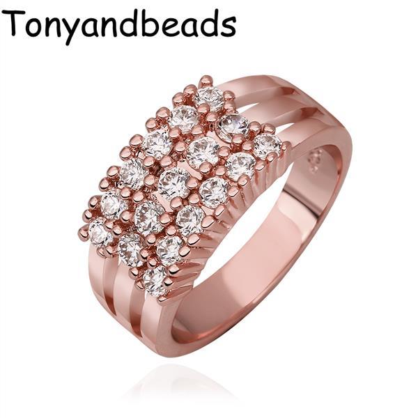Кольцо Tonyandbeads QualityNickle R594 AntiallergicNew 18 k PlatedRing кольцо для помолвки other qualitynickle r594 antiallergicnew 18 k platedring r594 r595