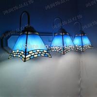 Tiffany Wall Lamp Mediterranean Sea Style Triple Mermaid Sconce Headboard Fixture 4 Colors E27 110-240V