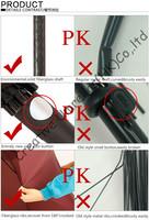 thuderproof,anti-static straight golf umbrellas 14mm fiberglass shaft and 5.0mm fiberglass ribs,auto open,windproof