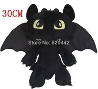 Free Shipping Gragon 2 Night Fury Plush Toy How to Train Your Dragon 2 Toothless Dragon Toys 30cm Plush Doll Toys Toy K50