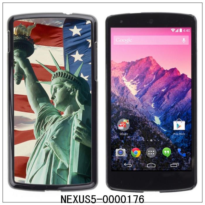 USA Statue Of Liberty-FOR LG Google NEXUS 5 E980 Plastic Hard Back Case Cover Shell,30PCS/Lot (NEXUS5-0000176)(China (Mainland))