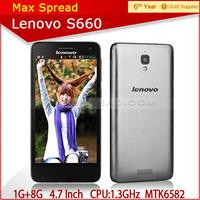 "New Original Lenovo Cell Phones 4.7"" IPS MTK6582 Quad Core Smartphone Mobile Phone Android 1GB RAM 8GB ROM GPS 8.0MP Camera"