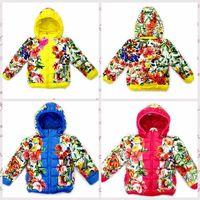 New 2014  winter jacket for girls,hooded snowsuit thicken Flowers fashion children winter coat,children outerwear roupas meninas