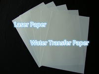 (50 sheets) Freeshipping Wholesale Retail A4 Sizse Transparent Printing Paper Laser Water Slide Decal Transfer Paper For Ceramic
