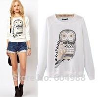 New Autumn Fashion Women Clothing Cute Owl Animal Print Sweatshirt Beading Hoodies Tracksuits for Women Hoody