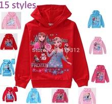 Frozen Children Hoodies Girls Clothing Sweatshirts Cotton coats for Boys New 2014 Cartoon Elsa Princess baby kids(China (Mainland))